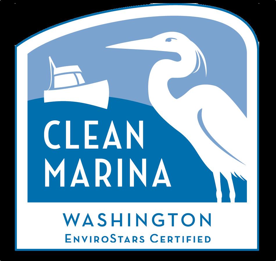 Clean Marina Washington Logo